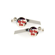 Hot Rod Girl Safety Whistle Keychain