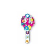 Peace Symbol Kwikset KW1 House Key