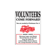 Volunteer Fireman Come Forward Porcelain Refrigerator Magnet