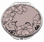 Lace Romance Compact Mirror