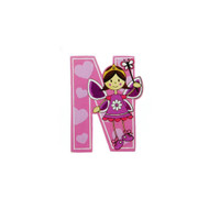 Self Adhesive Wooden Fairy Letter N by The Toy Workshop