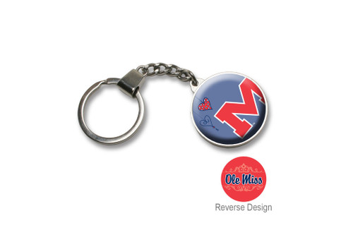 University of Mississippi Double Domed Keychain