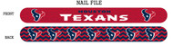 Houston Texans Nail File