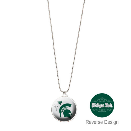 Michigan State Double Dome Necklace