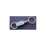 Tennessee Titans Gold Tone Valet Keychain