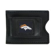 Denver Broncos Leather Money Clip and Card Case