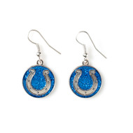 Indianapolis Colts Glitter Dangle Earrings