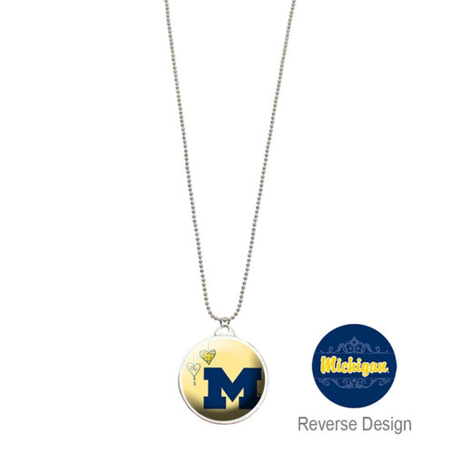 University of Michigan Double Dome Necklace