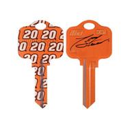 Tony Stewart Kwikset KW1 House Key NASCAR Keys