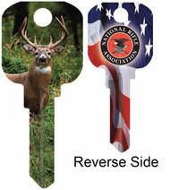 NRA Deer Schlage SC1 House Key