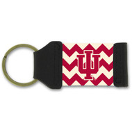 Indiana University Chevron Keychain