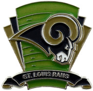 St. Louis Rams Logo Field Lapel Pin