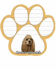 Cocker Spaniel Dog Paw Magnetic Note Pad