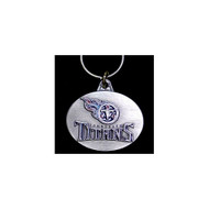 Tennessee Titans Pewter Oval Keychain