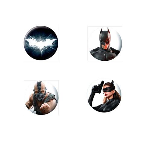 Batman The Dark Night Rises 4 Piece Button Set - 82198