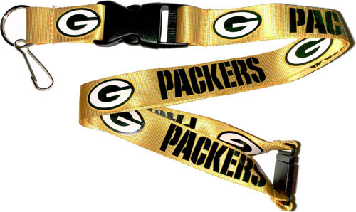 0ac1cc3760e Green Bay Packers Gold Lanyard - Sunset Key Chains