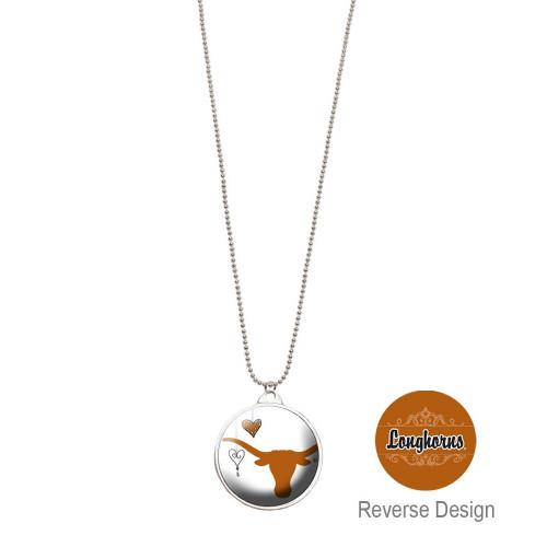 University Of Texas Double Dome Necklace