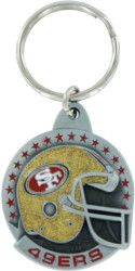 San Francisco 49ers Pewter Keychain