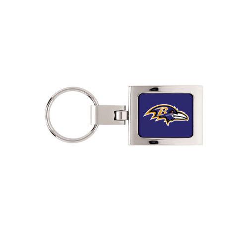 Baltimore Ravens Domed Metal Key Chain