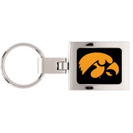 University Of Iowa Domed Metal Keychain