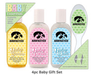 University of Iowa 4pc Baby Gift Set