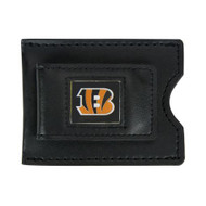 Cincinnati Bengals Leather Money Clip and Card Case