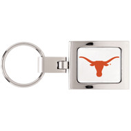 University Of Texas Domed Metal Keychain