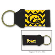 University of Iowa Chevron Keychain