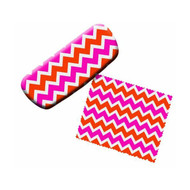Chevron Eyeglass Case and Cleaner