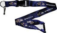 Baltimore Ravens Purple Lanyard Keychain