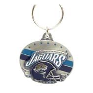 Jacksonville Jaguars Oval Pewter Keychain
