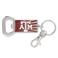 Texas A&M University Bottle Opener Metal Keychain (WC)