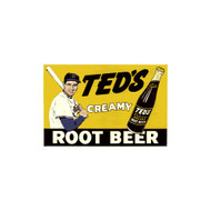Ted's Creamy Root Beer Porcelain Refrigerator Magnet