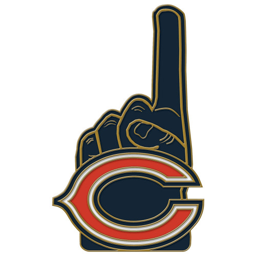 Chicago Bears Number One Cloisonne Pin