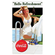 Coca-Cola Hello Swimming Beauty Tin Fridge Magnet