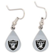 Oakland Raiders Tear Drop Earrings