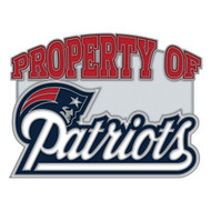 New England Patriots Property Of Cloisonne Pin