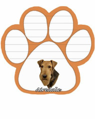 Airedale Dog Paw Magnetic Note Pad