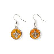 New Orleans Saints Glitter Dangle Earrings