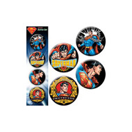 DC Comics Superman Action Four 4 Piece Button Set