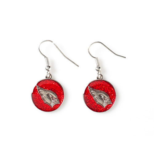 Arizona Cardinals Glitter Dangle Earrings