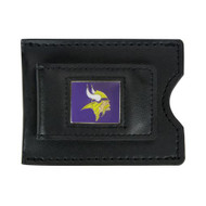 Minnesota Vikings Leather Money Clip and Card Case