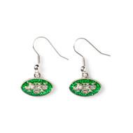 New York Jets Glitter Dangle Earrings