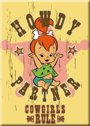 Pebbles Cowgirls Rule Refrigerator Magnet
