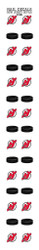 New Jersey Devils Nail Sticker Decals