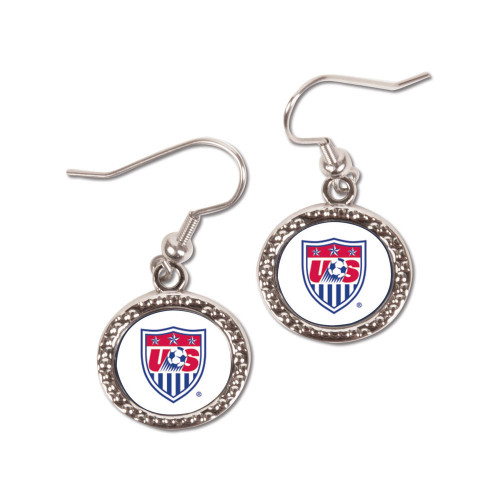United States National Soccer Team Round Earrings