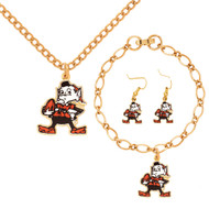 Cleveland Browns Jewelry Gift Set
