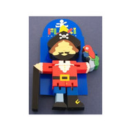 Wooden Captain Blackbeard Flexi by The Toy Workshop