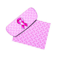 Breast Cancer Pink Ribbon Eyeglass Case and Cleaner
