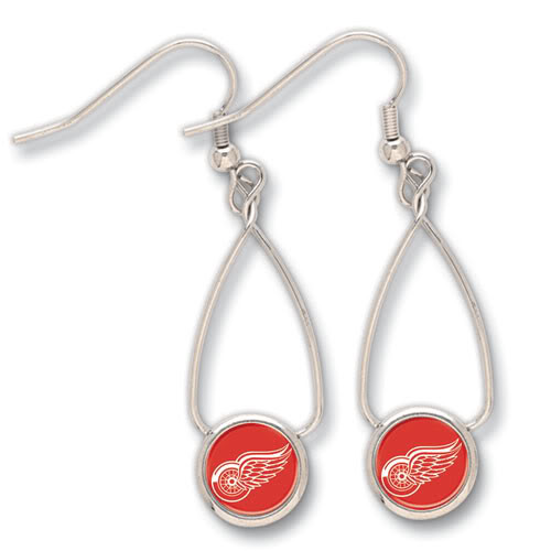 Detroit Red Wings French Loop Earrings